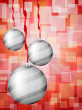 Christmas balls abstract bokeh red Royalty Free Stock Image