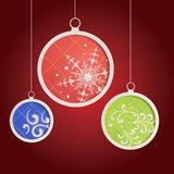 Christmas balls. Abstract Christmas balls cutted from paper vector illustration