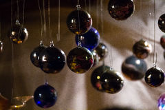 Christmas balls for a advent background royalty free stock image