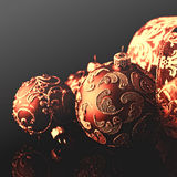Christmas balls against black background royalty free stock photography