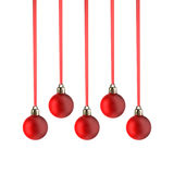 Christmas balls aligned Royalty Free Stock Photo