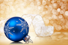 Christmas Balls And Ribbon Royalty Free Stock Images