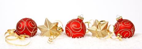 Christmas Balls And Stars Royalty Free Stock Photos
