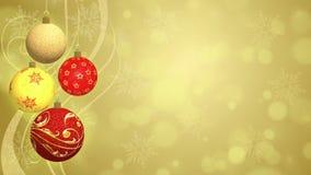 Christmas Balls - Animated Background Stock Images