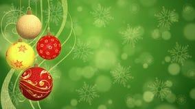 Christmas Balls - Animated Background Royalty Free Stock Images