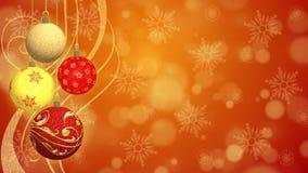 Christmas Balls - Animated Background Stock Photography