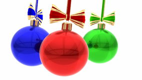 Christmas balls animation stock video footage
