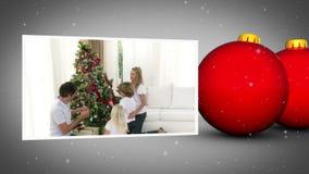 Christmas balls animation Stock Photos