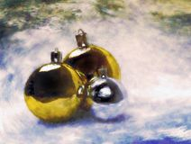 Christmas balls. Artistic painting. Stock Photography