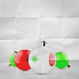 Christmas balls as vintage style Stock Image
