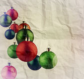 Christmas balls as vintage style Stock Images