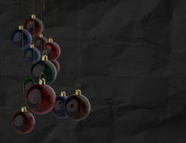 Christmas balls as vintage style Royalty Free Stock Image