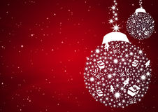 Christmas balls background Stock Image