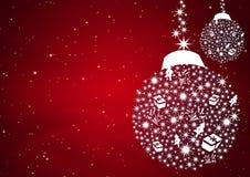 Christmas balls background royalty free illustration