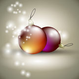 Christmas balls background Royalty Free Stock Photos