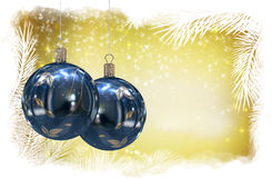 Christmas balls background Royalty Free Stock Photo