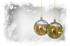 Christmas balls background Stock Photo