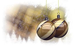 Christmas balls background Stock Photography