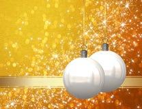 Christmas balls background Stock Photo