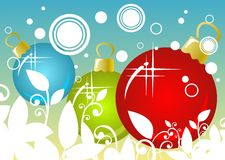 Christmas Balls Background Royalty Free Stock Images