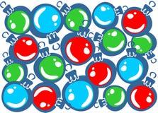 Christmas balls background Stock Photos