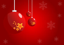 Christmas balls background. R background illustration stock illustration