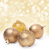 Christmas balls and background with bokeh Royalty Free Stock Image