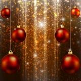 Christmas balls on the background bokeh. Christmas balls on bokeh background, vector art illustration Stock Photos