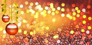 Christmas balls background with bright gradient and blur effects royalty free stock photography