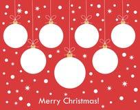 Christmas balls background Royalty Free Stock Image