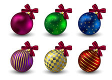 Christmas balls background holiday winter hristmas Royalty Free Stock Image