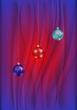 Christmas balls with background Stock Photo