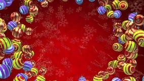 Christmas balls background loop stock video