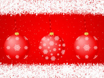 Christmas balls background red Royalty Free Stock Photography