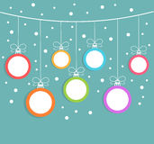 Christmas balls background Stock Images