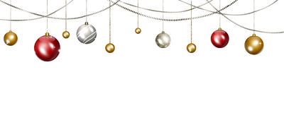 Christmas Balls Banner Stock Images