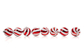 Christmas balls/bauble on white with copy space Stock Photos
