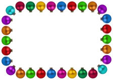 Christmas balls baubles colorful decoration frame copyspace copy Royalty Free Stock Image