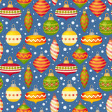 Christmas balls and baubles seamless pattern Royalty Free Stock Photography
