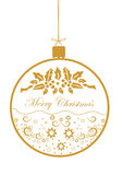 Christmas balls and a beautiful pattern  illustration Stock Images
