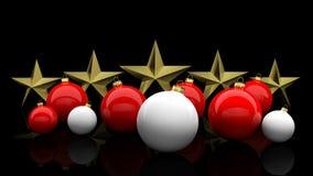 Christmas balls. On black background Stock Image