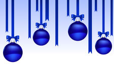 Christmas balls blue Royalty Free Stock Images