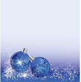 Christmas balls on blue background Stock Photo