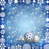 Christmas balls on blue background Royalty Free Stock Image