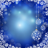 Christmas balls on blue background Royalty Free Stock Photo