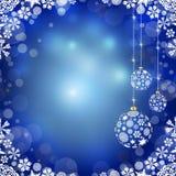 Christmas balls on blue background Royalty Free Stock Photo