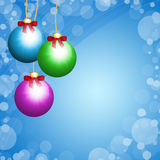 Christmas balls on blue background Royalty Free Stock Image