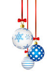 Christmas balls with blue Royalty Free Stock Images