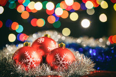 Christmas balls on a blur background Royalty Free Stock Photography