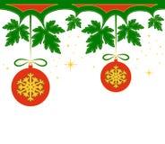 Christmas balls border Royalty Free Stock Image
